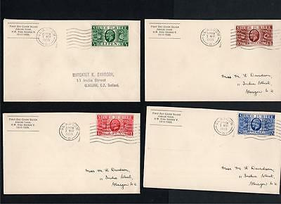 1935 Silver Jubilee Set Of 4 Display First Day Covers