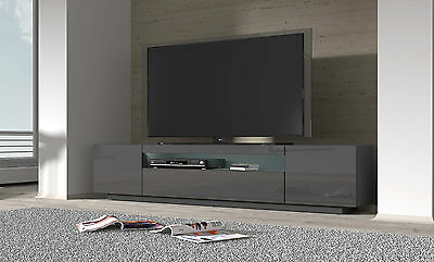 lowboard tv board sideboard rtv 2000 grau glanz tv schrank. Black Bedroom Furniture Sets. Home Design Ideas