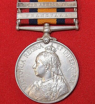 Vintage & Rare Pre Ww1 British Boer War Service Medal Captain New Zealand Rifles