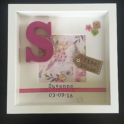 Personalised Custom Frame Gift For Girl Or Boy Christening Baby Birth