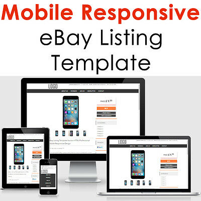 Ebay Listing Template Mobile Responsive Auction Compliant 2019 Design Html Https