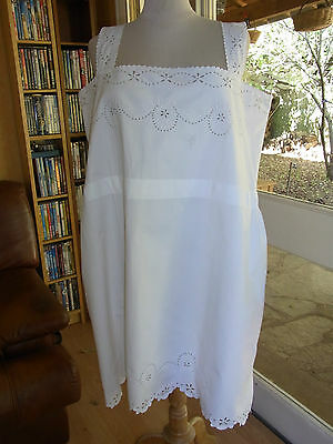 ANCIENNE CHEMISE 07 coton broderie angl MONOGR AR T44 OLD EMBROIDERED SHIRT XL
