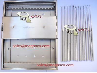 Rhoton Micro Dissector Set Surgical W/Case By MAQNSCO 19PCS Set