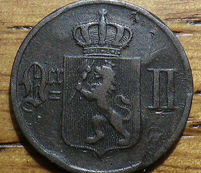 1897 Norway 1 Ore - GREAT COIN - Very Nice LOOK