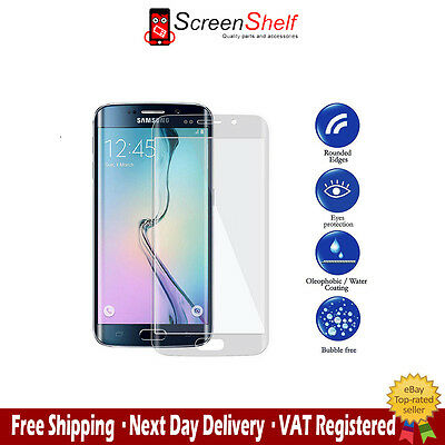 Clear Premium Tempered Glass Full Curved 3D Screen Protector For Samsung S6 Edge