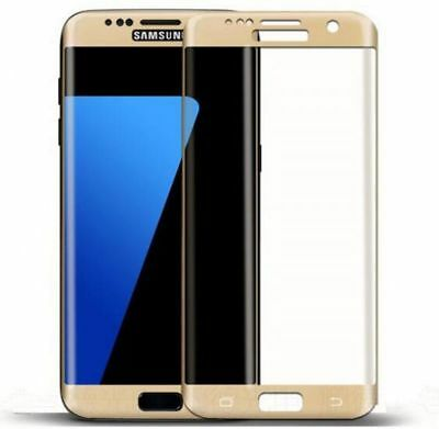 2 x Gold Premium Tempered Glass Curved For Samsung S7 Edge Screen Protector