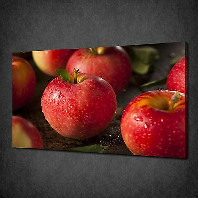 Red Gala Apples Kitchen Design Canvas Print Wall Art Picture Ready To Hang