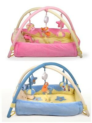 Best Ever Baby Musical Sensory Activity Gym/Mat with Sides and Toys Pink Or Blue