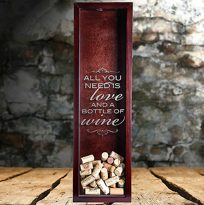 NEW Etched Wine Quote Shadow Boxes! Wine Cork Holder Gift with FREE SHIPPING NOW