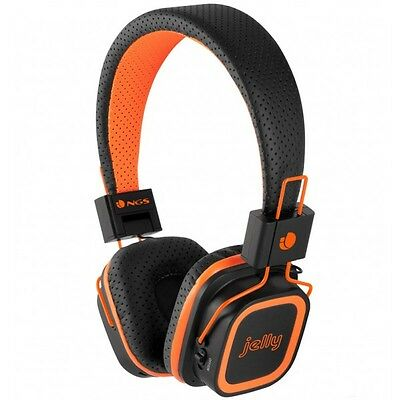 NGS Artica Jelly - Auriculares con micro inalambricos Bluetooth, color naranja
