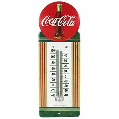 New! Vintage Style Metal Embossed Coca Cola Thermometer Button Advertising