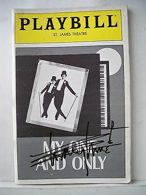 MY ONE AND ONLY Playbill TOMMY TUNE Autographed  OPENING NIGHT NYC 1983
