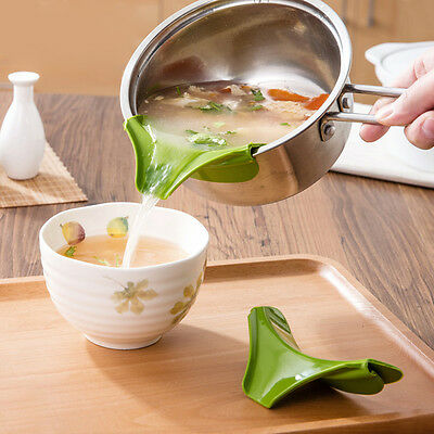Home Silicone Soup Funnel Kitchen Gadget Tools Water Cooking Food Deflector Set