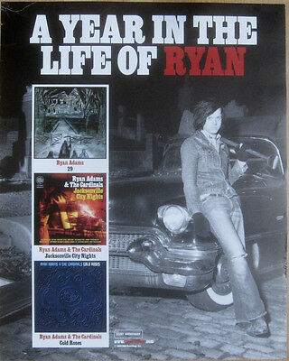 Ryan Adams - A YEAR IN THE LIFE OF RYAN ADAMS Promo Poster [2005] VG++