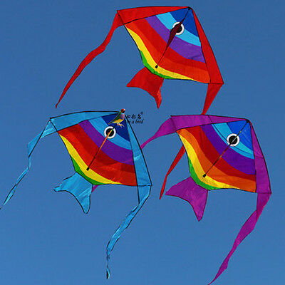New 1.9m small fish kite flying Children Toys Outdoor fun Sports single linem