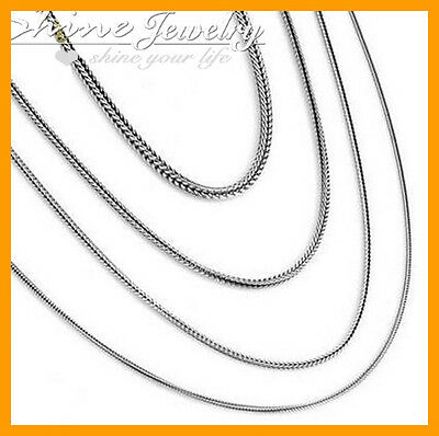 925 Solid Sterling Silver Snake Chain Necklace Mens Womens 16-24Inch 1Mm 2Mm 3Mm