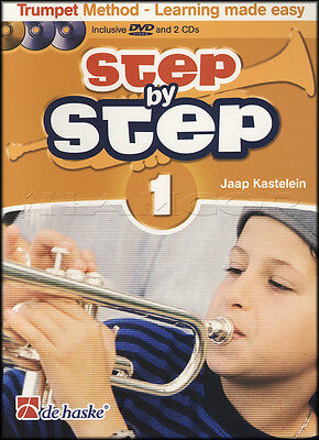 Step by Step 1 Trumpet Sheet Music Book/DVD/2CDs Learn How To Play Method
