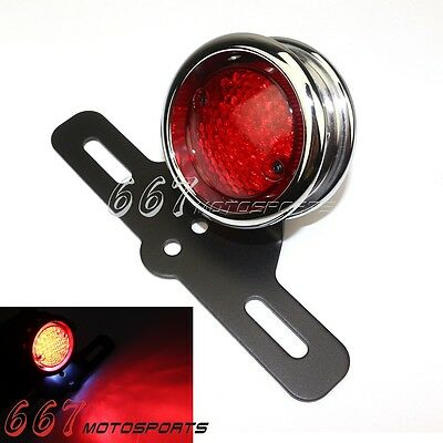 Motorcycle LED Tail Light Lamp License Plate Bracket For Harley Chopper Hot Sale