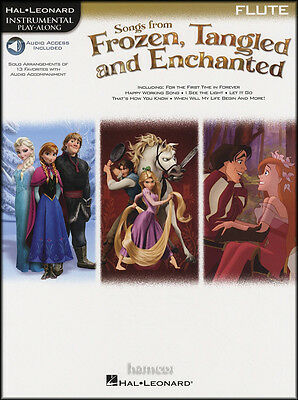 Songs from Frozen, Tangled & Enchanted Flute Instrumental Play-Along Music Book