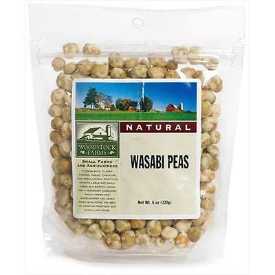 Woodstock Farms Wasabi Peas Natural 8-Ounce Bags -Pack of 8