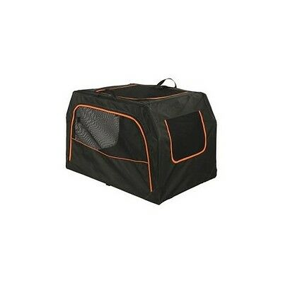 Rp144 TRIXIE Box de transport Extend - M : 84x54x55 cm - Noir et orange - Pour c