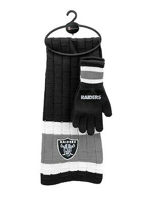Oakland Raiders Scarf & Gloves Gift Set