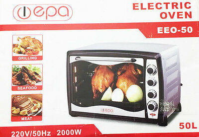 Epa Electric Oven Ee-50 50L 2000W Grilling , Meat, Sea Food Cooking