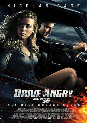 Drive Angry (2011) - A1/A2 POSTER **BUY ANY 2 AND GET 1 FREE OFFER**