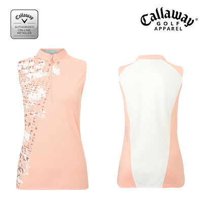 Callaway Woman/Ladies  Sleeveless Golf Polo Shirt-CGKS6073-New