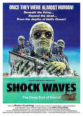 Shock Waves (1977) - A1/A2 POSTER **BUY ANY 2 AND GET 1 FREE OFFER**