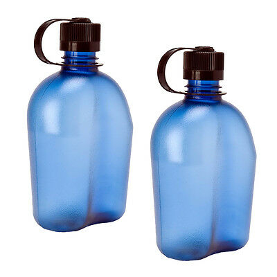 Nalgene Oasis 1qt Canteen Bottle Blue - 2 Pack