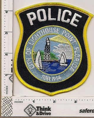 Lighthiouse Point Police. Florida. Shield shape.