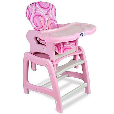 Badger Basket Envee Baby High Chair/ Play Table in Pink Furniture