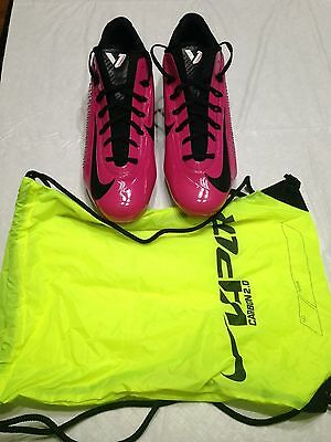8573c8ddd0 NWOB Sz 14.5 Nike Vapor Carbon 2 Elite TD Football Cleat Vivid Pink Black  Bag