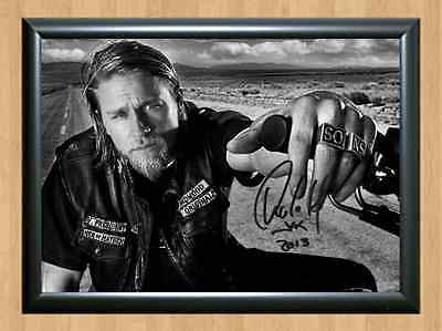 Charlie Hunnam Sons of Anarchy Jax Teller Signed Autographed A4 Print Photo 1