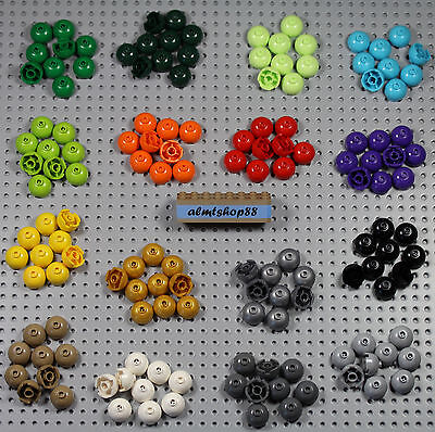 LEGO - 2x2 Round Bricks Dome Top - PICK YOUR COLORS - Bottom Axle Holder 553 Lot