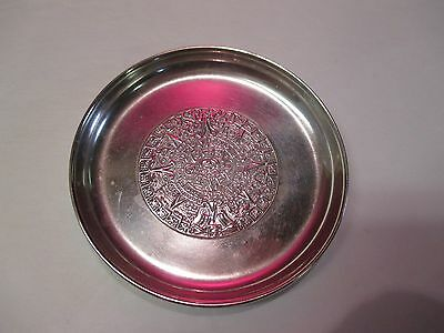Taxco Sterling Pin Tray With Aztec Calendar