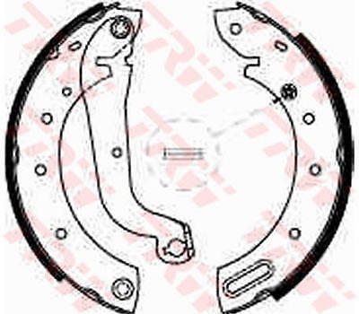 Brake Shoes fits NISSAN SERENA C23 Rear 1.6,2.0,2.3 92 to 01 GS8625 Set TRW New