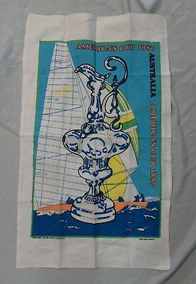 #ww. Two  1987  America's Cup Collector  Tea Towels