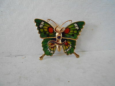 Vintage Lioness Club Fraternal Lions Club Butterfly Brooch Pin/ Pendant