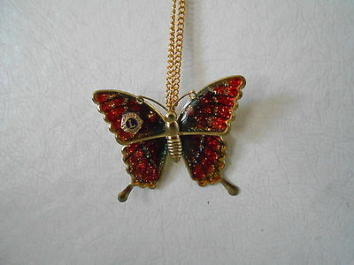 Vintage Lions Club  Butterfly Necklace/Brooch Pin