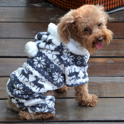 Fashion Warm Winter Hoodie Jumpsuit Coat Clothes Costume For Pet Dog Puppy Hot