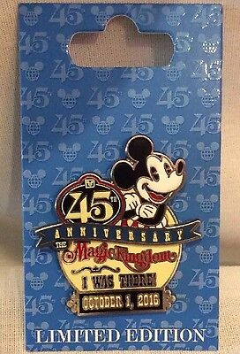 Disney Pin Magic Kingdom 45th Anniversary I Was There Pin New October 1 With Map