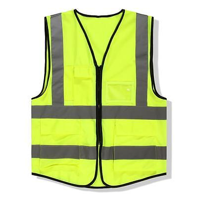 1x High Safety Security Visibility Reflective Vest Construction Traffic Cloth AD