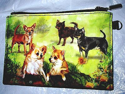 CHIHUAHUA  Zippered Pouch by Maystead / full color design both sides