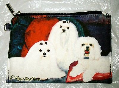 MALTESE   Zippered Pouch by Maystead / full color design both sides