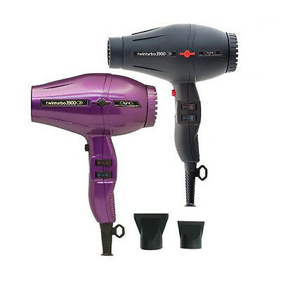 TWINTURBO HAIR DRYER 3900 Compact Ionic Ceramic Mafe by Parlux Italy 2150W watts