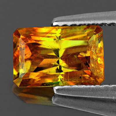 VVS~4.92CT RECTANGLE 11x8mm CANARY YELLOW SPHALERITE NATURAL LOOSE GEMSTONE