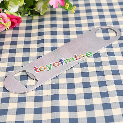 Portable Stainless Steel Large Flat Speed Bottle Cap Opener Remover Bar Blade