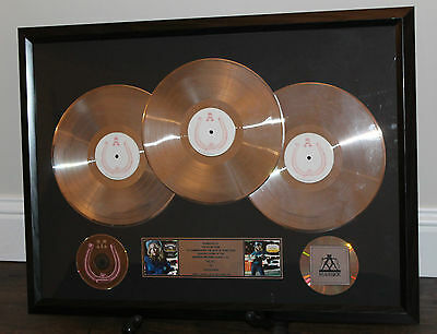 Madonna Music In House Sales Team Award 3 X Platinum Record Lp Cd Disc